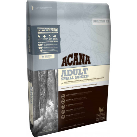 Сухой корм для собак Acana Heritage Adult Small Breed для мелких пород с цыпленком и индейкой 6 кг