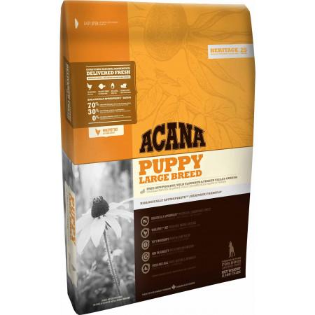 Сухой корм для щенков Acana Heritage Puppy Large Breed для крупных пород с цыпленком 17 кг