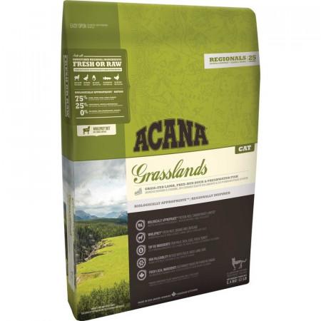 Сухой корм для кошек Acana Grasslands беззерновой с ягненком 5.4 кг
