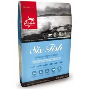 Сухой корм для собак Orijen Six Fish с рыбой 11,4 кг