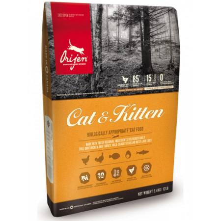 Сухой корм для кошек и котят Orijen Cat & Kitten с индейкой, рыбой и яйцом 17 кг