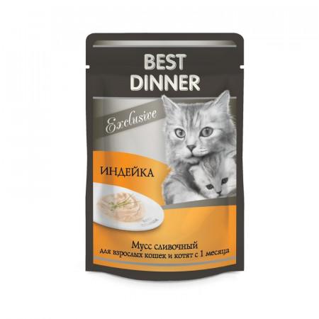 Влажный корм для кошек Best Dinner Exclusive Мусс сливочный Индейка 85 г