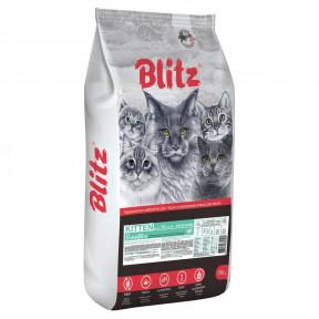 Сухой корм для котят Blitz Sensitive при чувствительном пищеварении, с индейкой 10 кг