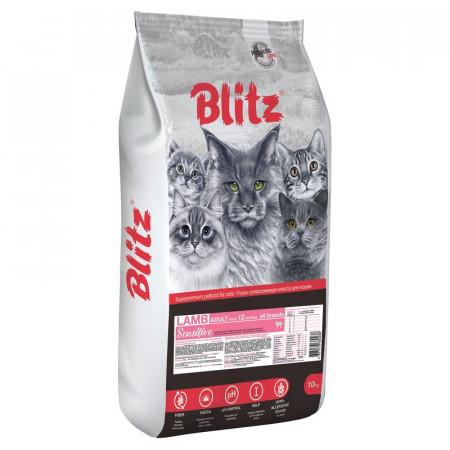 Сухой корм для кошек Blitz Lamb Sensitive с ягненком 400 г