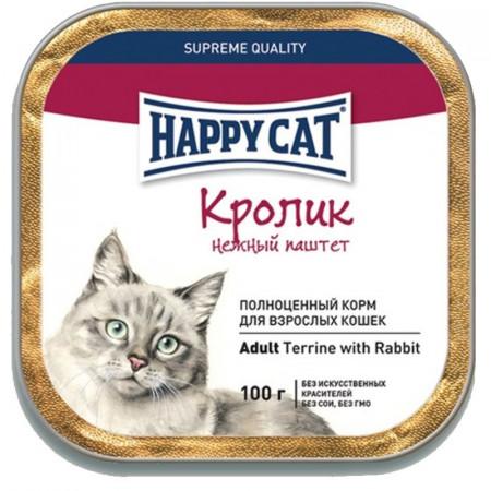 Влажный корм для кошек Happy Cat с кроликом (паштет) 100 г