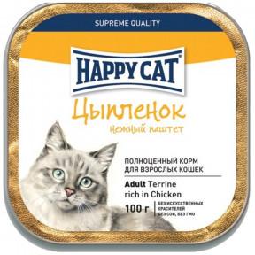 Влажный корм для кошек Happy Cat с курицей (паштет) 100 г