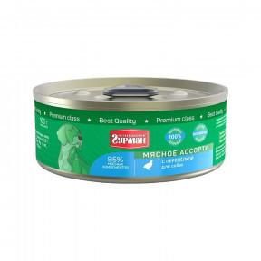 Влажный корм для собак Четвероногий Гурман Мясное ассорти беззерновой перепелка 100 г
