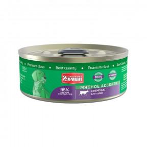 Влажный корм для собак Четвероногий Гурман Мясное ассорти беззерновой печень 100 г