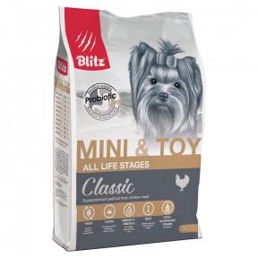 Сухой корм для собак Blitz Adult Dog Mini & Toy Breeds dry с курицей (для мелких и миниатюрных пород) 0.5 кг