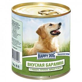 Влажный корм для собак Happy Dog NaturLine Вкусная Баранина, печень, сердце, рубец с рисом 750 г