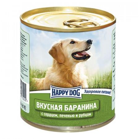 Влажный корм для собак Happy Dog NaturLine Вкусная Баранина, печень, сердце, рубец 750 г