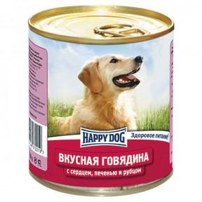 Влажный корм для собак Happy Dog NaturLine Вкусная Говядина, печень, сердце, рубец 750 г
