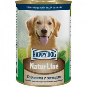 Влажный корм для собак Happy Dog NaturLine телятина с овощами 400 г