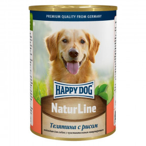 Влажный корм для собак Happy Dog NaturLine телятина с рисом 400 г