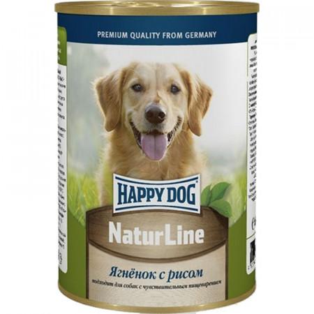 Влажный корм для собак Happy Dog NaturLine ягненок с рисом 400 г