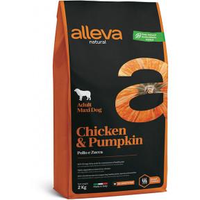 Сухой корм для собак Alleva Natural курица с тыквой (для крупных пород) 2 кг