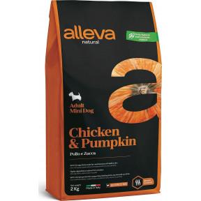 Сухой корм для собак Alleva Natural курица с тыквой (для мелких пород) 2 кг