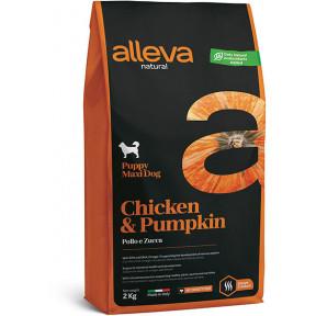 Сухой корм для щенков Alleva Natural курица с тыквой (для крупных пород) 12 кг