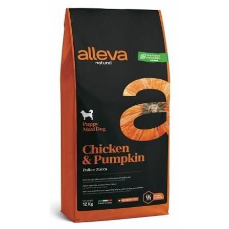 Сухой корм для щенков Alleva Natural курица с тыквой (для средних пород) 12 кг