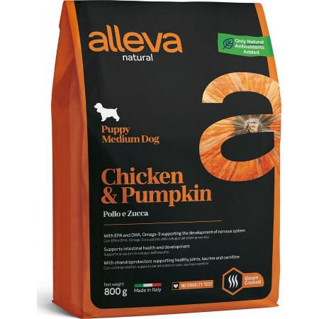Сухой корм для щенков Alleva Natural курица с тыквой (для мелких пород) 2 кг