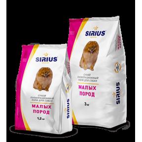 Сухой корм для взрослых собак Sirius Для малых пород с индейкой 3 кг