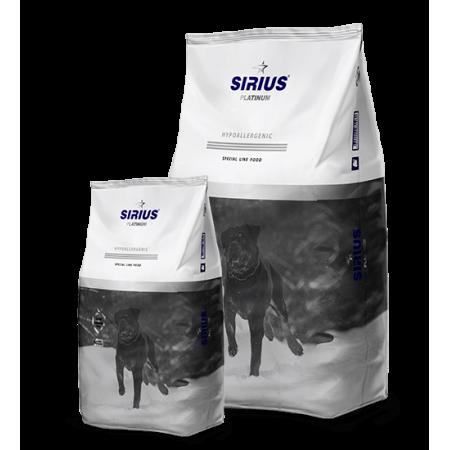 Сухой корм для взрослых собак Sirius Platinum Hypoallergenic Индейка с овощами 12 кг