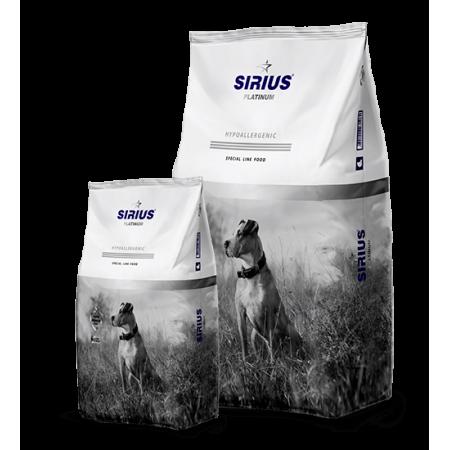 Сухой корм для взрослых собак Sirius Platinum Hypoallergenic Утка с овощами 12 кг