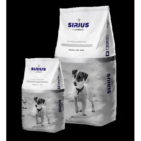 Сухой корм для взрослых собак Sirius Platinum Hypoallergenic Индейка с овощами (для мелких пород) 8 кг