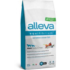 Сухой корм для собак Alleva Equilibrium Sensitive с океанической рыбой (для средних и крупных пород) 12 кг
