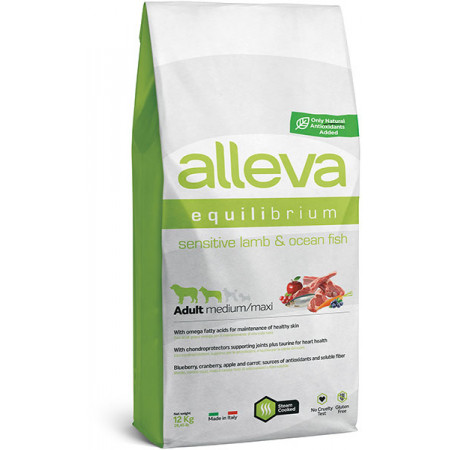 Сухой корм для собак Alleva Equilibrium Sensitive с ягненком и океанической рыбой (для средних и крупных пород) 12 кг