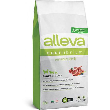 Сухой корм для щенков всех пород Alleva Equilibrium Sensitive с ягненком 12 кг