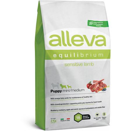 Сухой корм для щенков Alleva Equilibrium Sensitive с ягненком (для мелких и средних пород) 2 кг