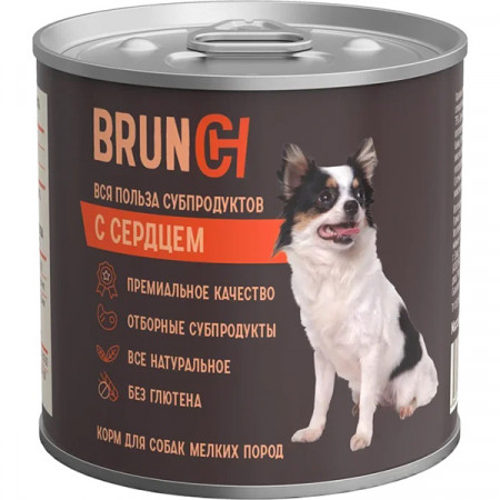 Влажный корм для собак Brunch с сердцем (для мелких пород) 240 г