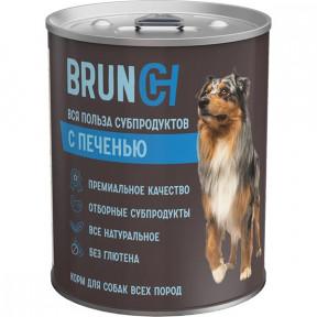 Влажный корм для собак Brunch с печенью 340 г