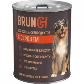 Влажный корм для собак Brunch с сердцем 340 г