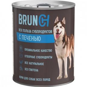 Влажный корм для собак Brunch с печенью 850 г