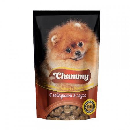 Влажный корм для собак Chammy С говядиной в соусе 85 г