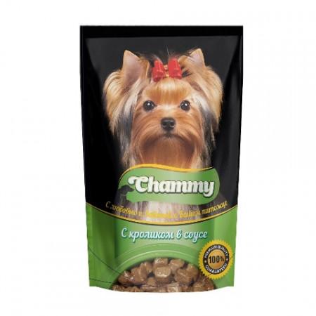 Влажный корм для собак Chammy С кроликом в соусе 85 г