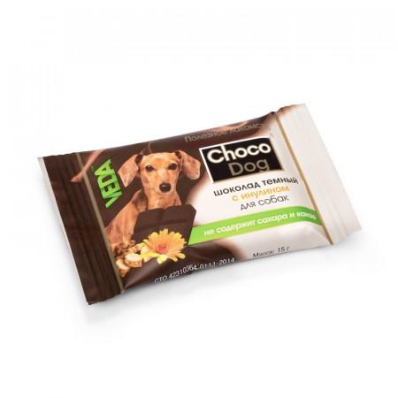 Лакомство для собак VEDA Choco Dog шоколад темный 15 г