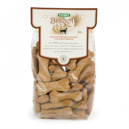 Лакомство для собак Titbit Печенье Бискотти с печенью говяжьей