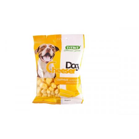 Лакомство для собак Titbit CheeserDog Сырные шарики классические 30 г