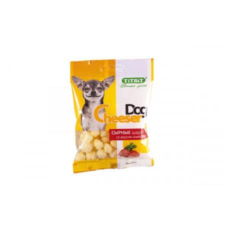 Лакомство для собак Titbit CheeserDog Сырные шарики со вкусом говядины 30 г