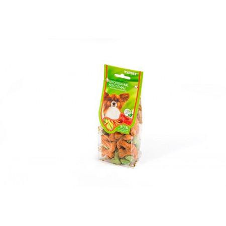 Лакомство для собак Titbit Бисквитные косточки с морковью и кабачком 100 г