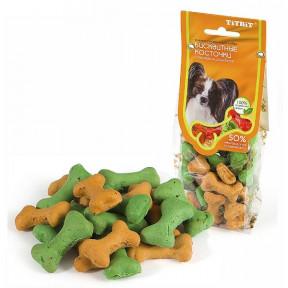 Лакомство для собак Titbit Бисквитные косточки с тыквой и шпинатом 100 г