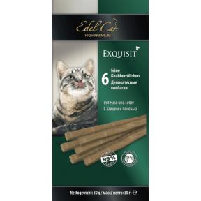 Лакомство для кошек Edel Cat Колбаски Заяц и печень
