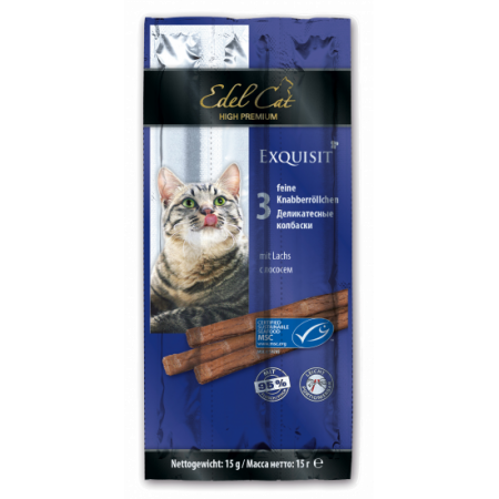 Лакомство для кошек Edel Cat Колбаски Лосось