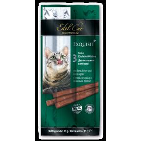 Лакомство для кошек Edel Cat Колбаски Утка, печень и кошачья трава