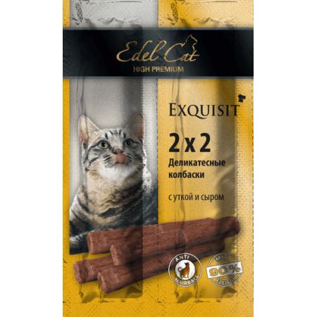 Лакомство для кошек Edel Cat Мини-колбаски Утка с сыром