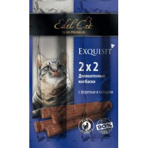 Лакомство для кошек Edel Cat Мини-колбаски Форель с солодом
