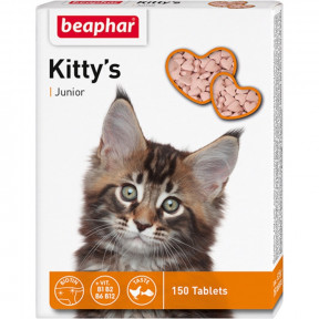Витамины для котят Beaphar Kitty`s Junior с биотином 150 табл